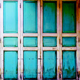 Wooden  Door  old vintage retro style Stock Photography