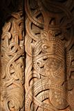 Wooden door ornament Royalty Free Stock Images