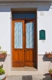 Wooden door. Pisticci. Basilicata. Italy. Royalty Free Stock Image