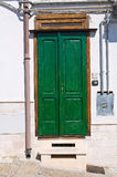 Wooden door. Pisticci. Basilicata. Italy. Royalty Free Stock Images