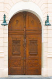 Wooden Door Prague Stock Photography