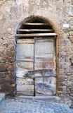 Wooden door. Ronciglione. Lazio. Italy. Stock Photos
