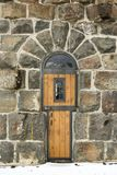 Wooden door in Roosevelt Gate, Yellowstone National Park Royalty Free Stock Photos