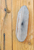 Wooden Door with Rotating Latch Stock Photos