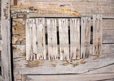 Wooden door with Rusty Nails and Latch royalty free stock photography