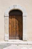 Wooden door. San Severo. Puglia. Italy. Stock Image