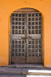 Wooden door. San Severo. Puglia. Italy. Royalty Free Stock Photo