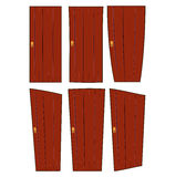 Wooden door  set vector symbol icon design. Stock Photography