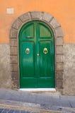 Wooden door. Soriano nel Cimino. Lazio. Italy. Wooden door of Soriano nel Cimino. Lazio. Italy Stock Image