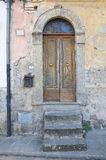 Wooden door. Soriano nel Cimino. Lazio. Italy. Wooden door of Soriano nel Cimino. Lazio. Italy Royalty Free Stock Photos