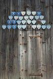 Wooden door of stable Stock Photography