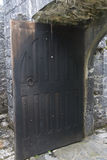 Wooden door stands open, Aughnanure Castle, near Oughterard Royalty Free Stock Photos