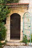 Wooden door in the street of Jerusalem. Israel Royalty Free Stock Photos