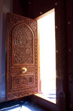 Wooden door of the Sultan Qaboos Grand Mosque, Oman Stock Image