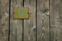 Wooden door &  tablet Stock Photo