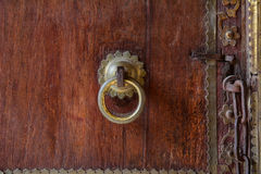 The wooden door at the Taj Mahal in Agra, India Royalty Free Stock Image