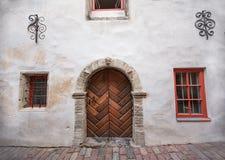 Wooden door in Tallinn Royalty Free Stock Photography