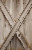 Wooden door texture. Texture and grain of an old wooden door Stock Photography