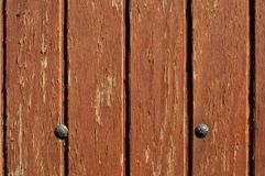 wooden door with two nails Royalty Free Stock Photography