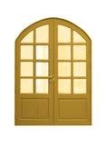 Wooden door upper curve vintage. Royalty Free Stock Photo