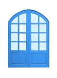 Wooden door upper curve vintage. Royalty Free Stock Images