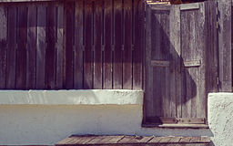Wooden door. The vintage Wooden door in resort stock images