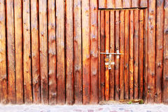 Wooden door and wall Royalty Free Stock Images