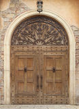 Wooden door and wall Stock Images