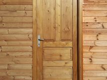 Wooden door and walls Royalty Free Stock Photography