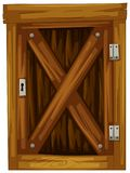 Wooden door on white background Royalty Free Stock Photos