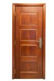 Wooden door on white Stock Photos