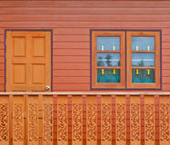 Wooden door and window Royalty Free Stock Image