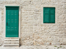 Wooden door and window Stock Photos