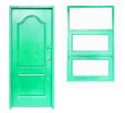 Wooden door and window Stock Photo