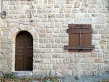 Wooden door and window Royalty Free Stock Image