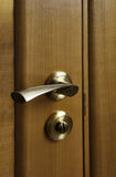 Wooden Door With The Lock Royalty Free Stock Photo