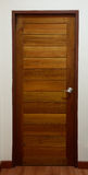 Wooden door. Wood door in bedroom of home Stock Photos
