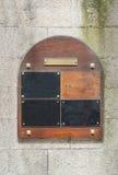 Wooden doorplate Royalty Free Stock Image