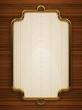 Wooden doorplate vertical Stock Image