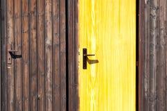 Wooden Doors. Brown and yellow wooden doors stock images