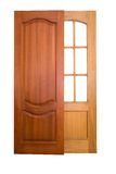 Wooden doors. (with clipping paths royalty free stock images