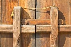 Wooden doors. Wooden doors, antique brown locks Stock Photography