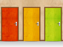 Wooden doors Royalty Free Stock Photo