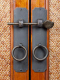 Wooden doors. Two doors with medieval aparience Royalty Free Stock Images
