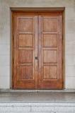 Double Wooden Doors Stock Photo