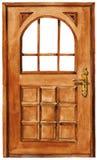 Wooden doors royalty free illustration