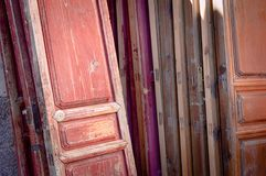 Wooden doors background Royalty Free Stock Images