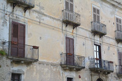 Wooden doors with balconies. A photo of some old wooden doors and balconies Stock Images