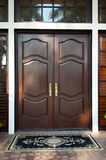 Wooden doors closed Stock Photos