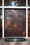 Wooden doors closed Stock Photos
